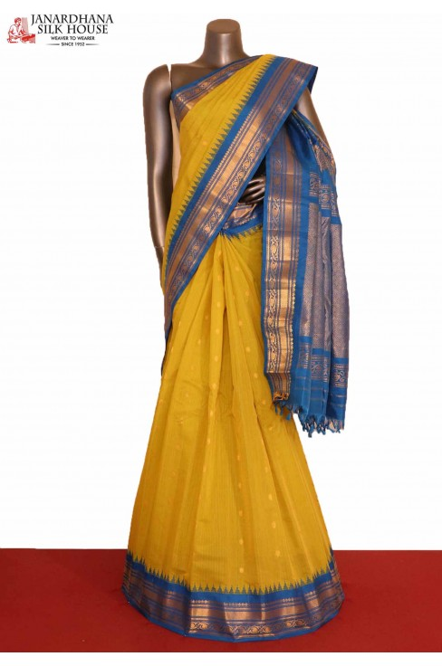 Temple & Traditional Handloom Pure Gadwal Silk Cotton