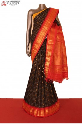 Grand & Traditional Ganga Jamuna Handloom Pure Gadwal Silk Saree