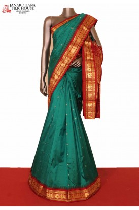 Temple Peacock South Silk Saree
