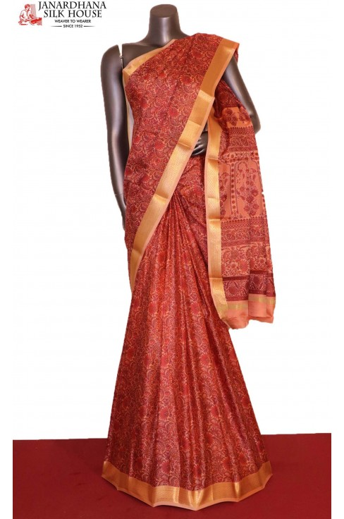 Floral Printed Pure Silk Saree..