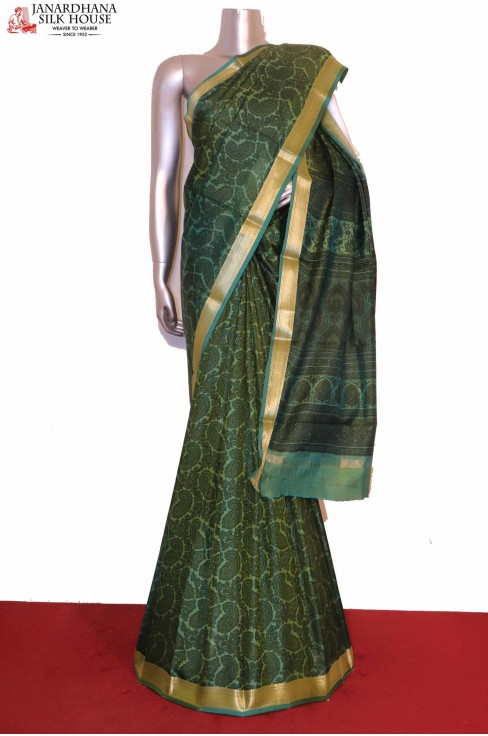 Paisley Printed Pure Silk Saree
