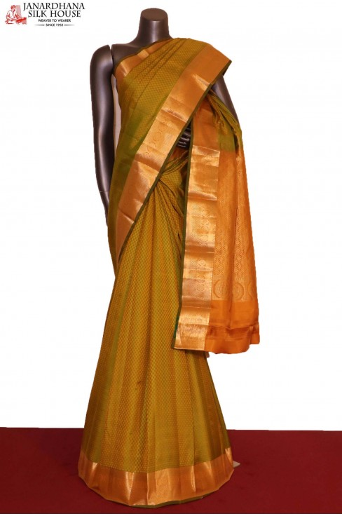 AG207644-Traditional & Classic Wedding Pure South Silk Saree