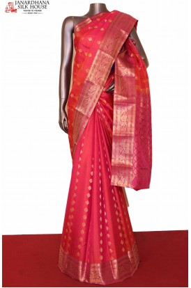 Pink South Wedding Silk Saree