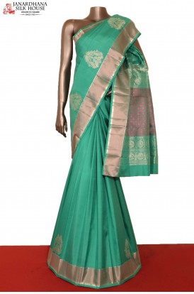 Silver Kanchipuram Silk Saree