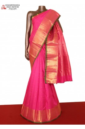 Kanjeevaram Pink Wedding Silk saree