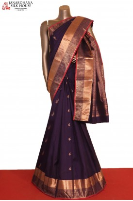 Designer & Grand Copper Zari Wedding Kanjeevaram Silk Saree