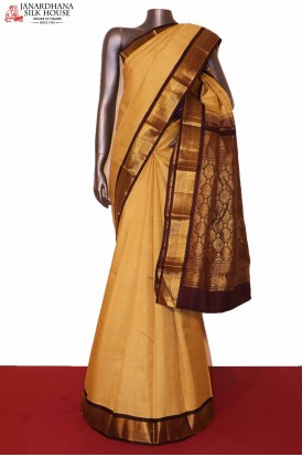 Contrast Kanchipuram Silk Saree