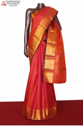 Checks Kanchipuram Silk Saree..