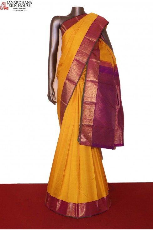 Yellow Kanjivaram Silk Saree