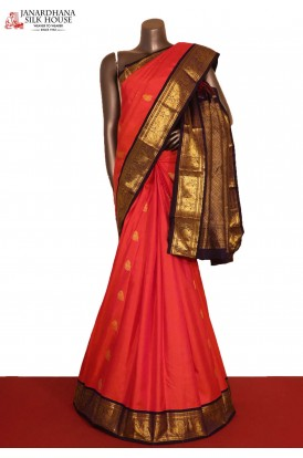 AG207797-Exclusive Contrast & Traditional Wedding Kanjeevaram Silk Saree