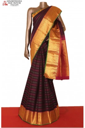 Coffee Brown Kanchi Slk Saree