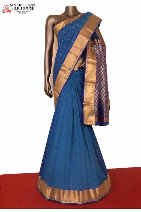 Traditional Blue South Silk Saree