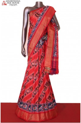Ikat Patola Silk Saree