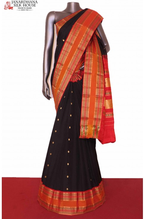 Black Exclusive South Silk Saree
