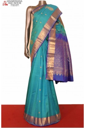 Blue Wedding Kanchipuram Silk Saree