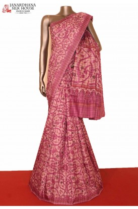 Prints & Checks Exclusive Silk Saree