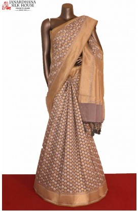 Grey Handloom Banarasi Cotton