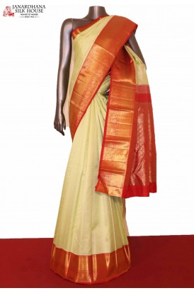 Contrast Exclusive Kanjeevaram Silk Saree