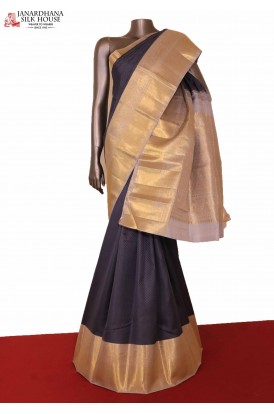 Exclusive Grey Kanjeevaram Silk Saree