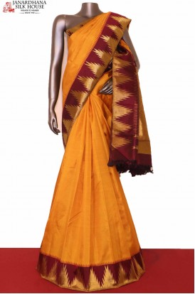AG208444-Temple Traditional Kanjivaram Silk Saree