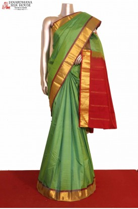 Green Pure South Silk Saree
