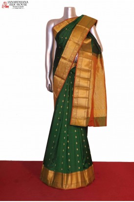 Green Wedding South Silk Saree