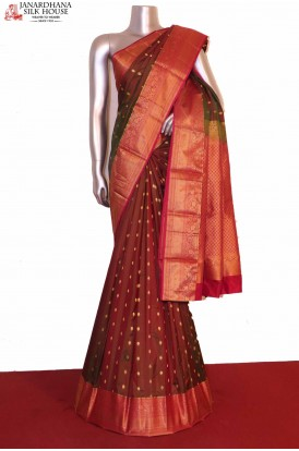 Two Tone South Indian Silk Saree