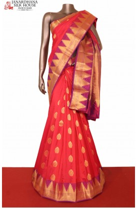 Temple South Silk Saree