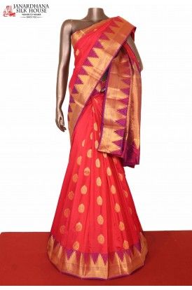 Exclusive Temple South Silk Saree