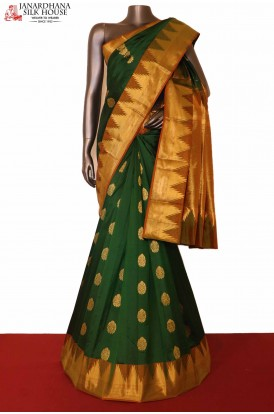 Temple South Indian Wedding Silk Saree