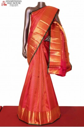 Bridal Pink Kanchi Wedding Silk saree