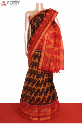 Pochampally Silk Cotton Saree