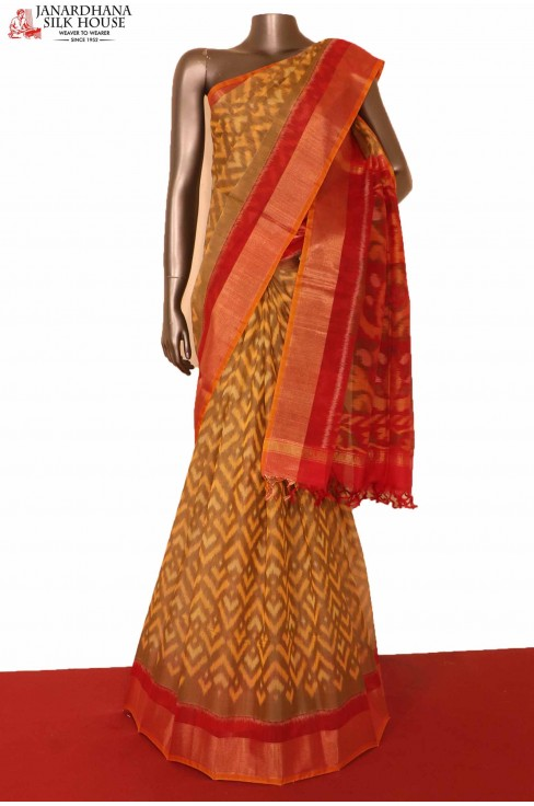 Exclusive Pochampally Silk Cotton Saree