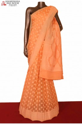 Special Weave Pure Crepe Silk Saree