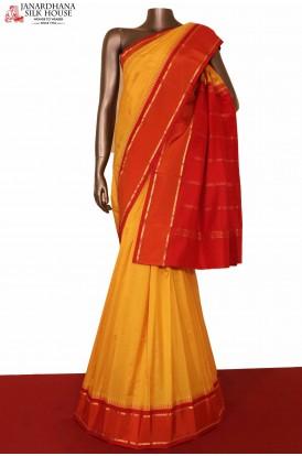 Yellow South Indian Silk Saree