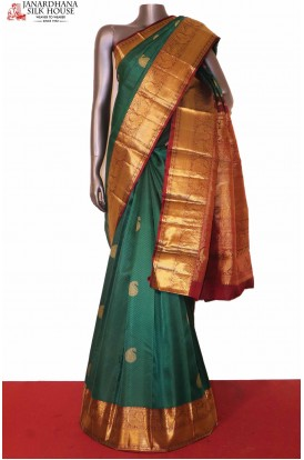 Green Kanchipuram Wedding Silk Saree