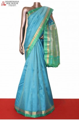Graceful Wedding Blue Kanjeevaram Silk Saree