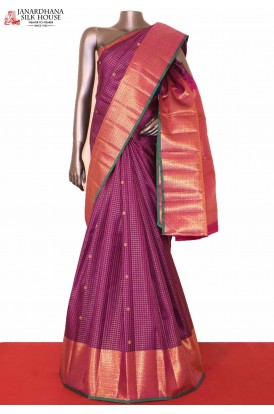 Grand Purple Kanchipuram Silk Saree