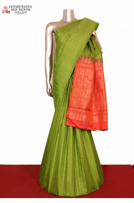 Exclusive Gold Silver Kanjeevaram Silk saree