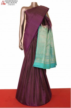 Designer Purple Kanjeevaram Silk saree