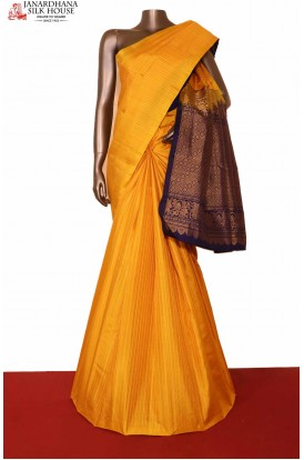 Designer Yellow Kanjivaram Silk saree