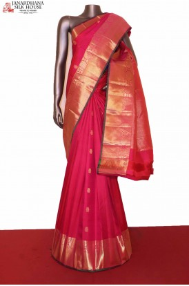 Pink Kanjeevaram Wedding Silk Saree