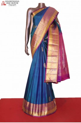 Gandaberunda Kanjeevaram Wedding Silk Saree