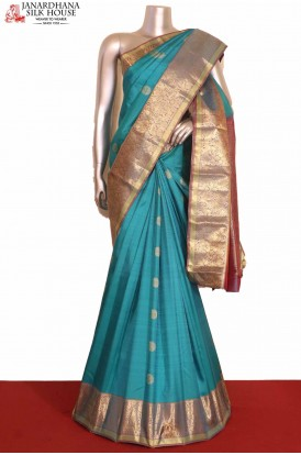 Grand Peacock Chakram Kanjeevaram Silk saree