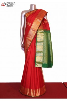 Bridal Red Kanchipuram Silk Saree