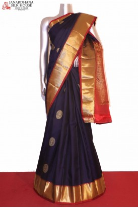 Traditional Chakram Kanjivaram Silk saree