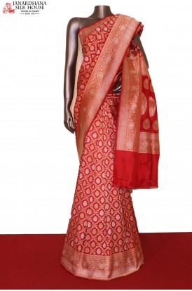 Contemporary Banarasi Wedding Silk Saree