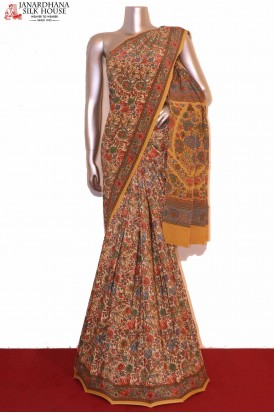 Floral Printed Pure Crepe Silk Saree