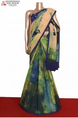 Designer Crepe Silk Saree