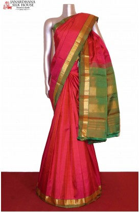 Two Tone Kanjivaram Silk Saree